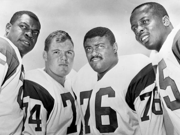 Fearsome 4-some Rosey Grier, Lamar Lundy, Merlin Olsen, Deacon Jones