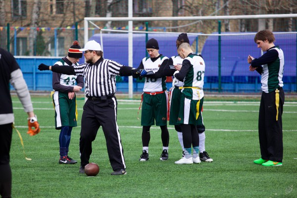 Moscow-based flag-football team Tough Nuts on Tournament