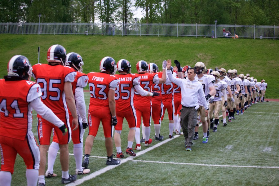 Rebels and Nroth Legion teams after the game