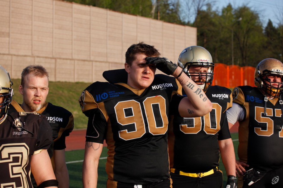 Moscow Spartans team on the sideline