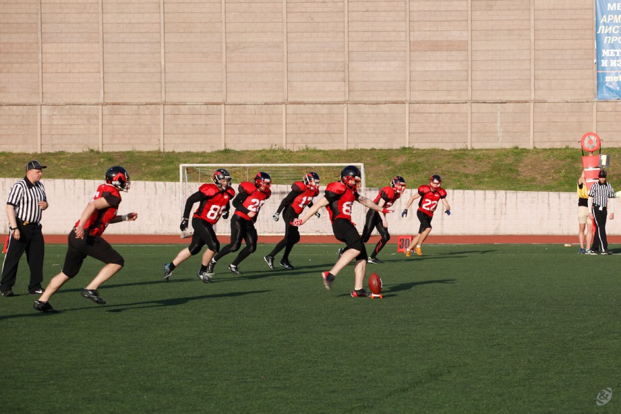 Moscow Dragons kicking the ball