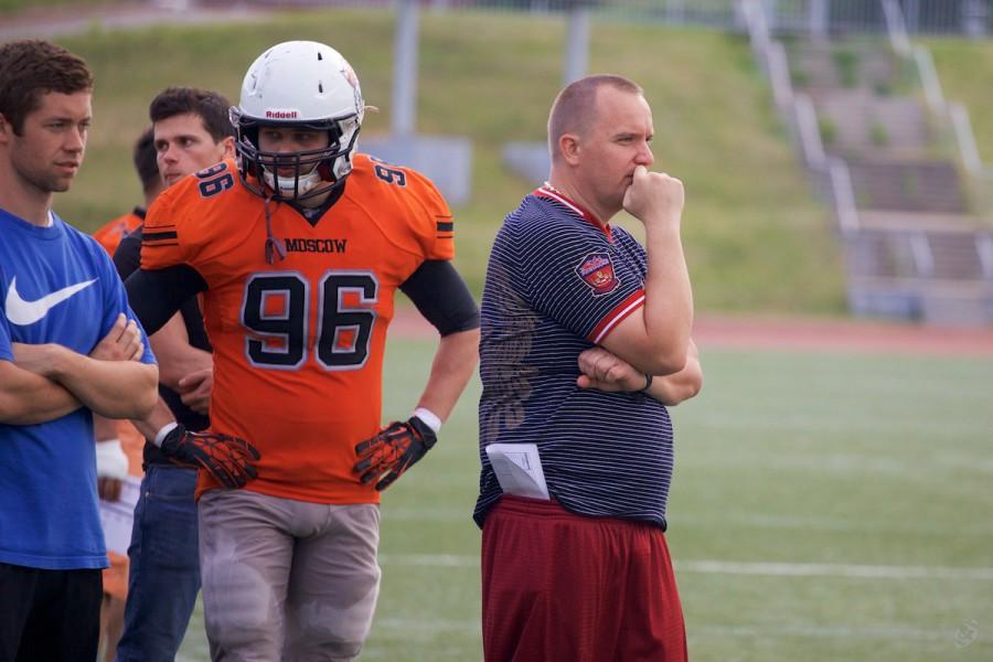 Patriots head coach Viktor Skapishev on the sideline