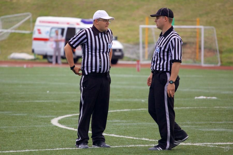 Referee Ivan Smirnov and back judje Kirill Chekhov