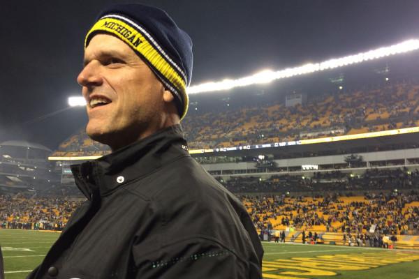 bal-michigan-coach-jim-harbaugh-attending-ravenssteelers-playoff-game-20150103