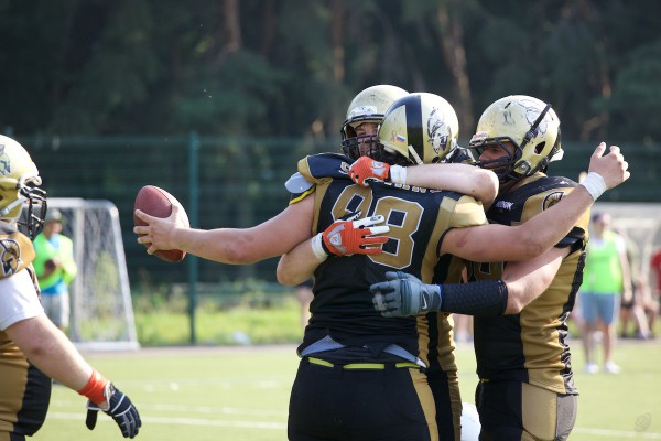 Moscow Spartans celebrating touchdown