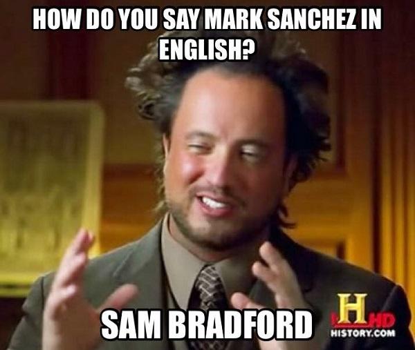 Mark Sanchez - Sam Bradford