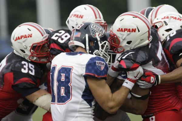 Матч между США и Японией за золото ЧМ-2015. Фото: USA Football