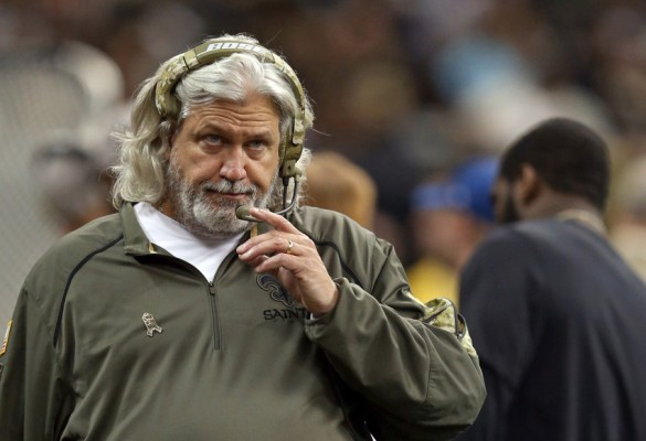 Nov 8, 2015; New Orleans, LA, USA; New Orleans Saints defensive coordinator Rob Ryan on the sidelines during the second half of their game against the Tennessee Titans at the Mercedes-Benz Superdome. The Titans won, 34-28, in overtime. Mandatory Credit: Chuck Cook-USA TODAY Sports