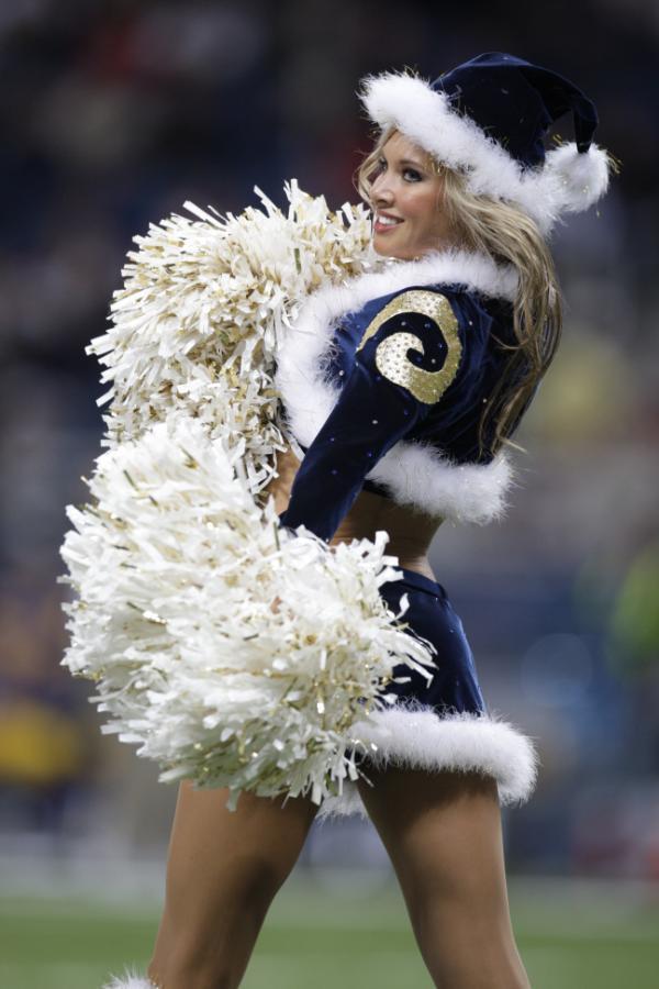 Rams Christmas Cheerleaders