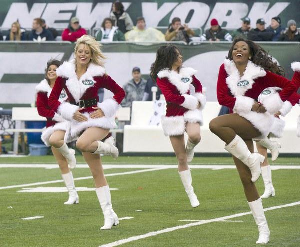 Jets Christmas Cheerleaders
