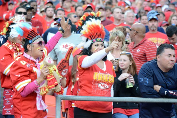 Oct 20, 2013; Kansas City, MO, USA; Kansas City Chiefs fans show their support during the second half of the game against the Houston Texans at Arrowhead Stadium. The Chiefs won 17-16. Mandatory Credit: Denny Medley-USA TODAY Sports