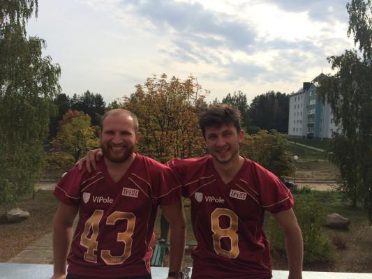 Александр Дильдин (слева) в форме сборной России