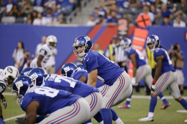 Mew York Giants Offensive Line. Photo: Seth Wenig/Associated Press