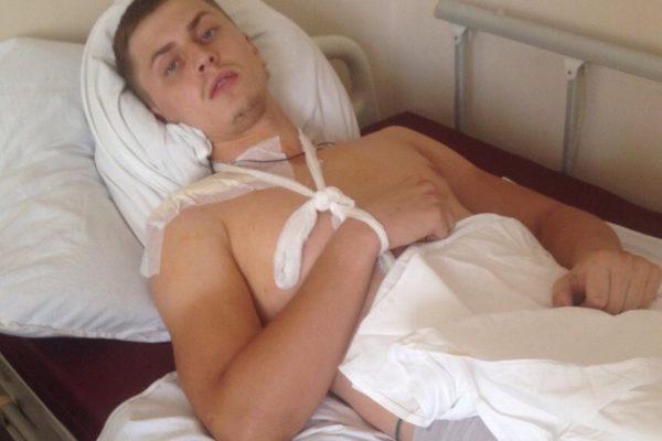 Александр Яцуненко после операции.